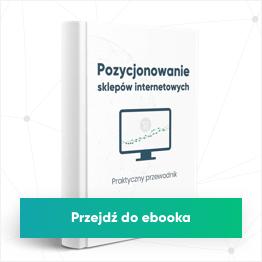 Ebook - Pozycjonowanie sklepów www - Zacznij czytać