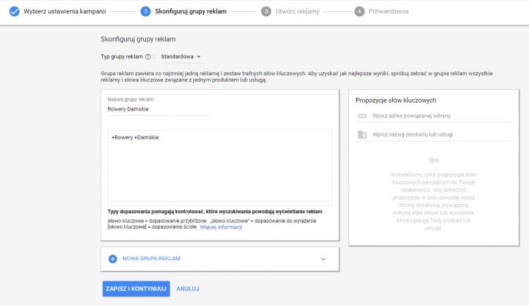grupy reklam google adwords
