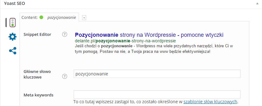 Pozycjonowanie stron na WordPressie
