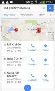 Wyszukania mobilne - pozycjonowanie google maps