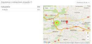 Wskazówki dojazdu - pozycjonowanie Google Maps