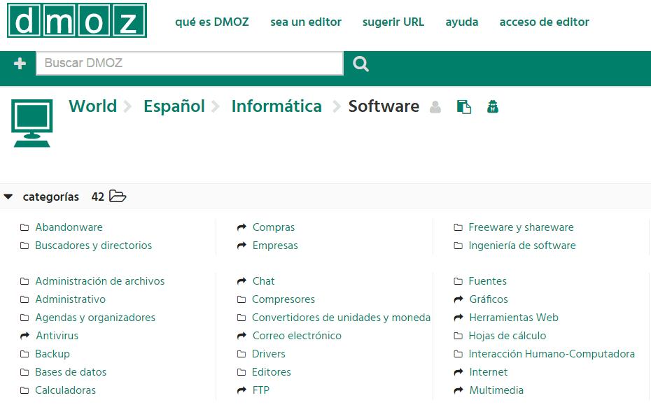 dmoz - pozycjonowanie w Hiszpanii