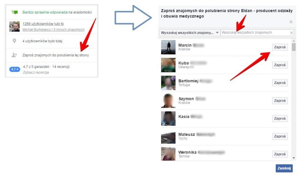 Jak zaprosić znajomych do polubienia Twojego fanpage? Jak zdobyć lajki na Facebooku?