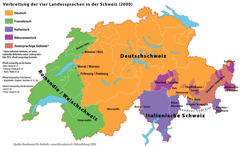 Pozycjonowanie w Szwajcarii a podział językowy