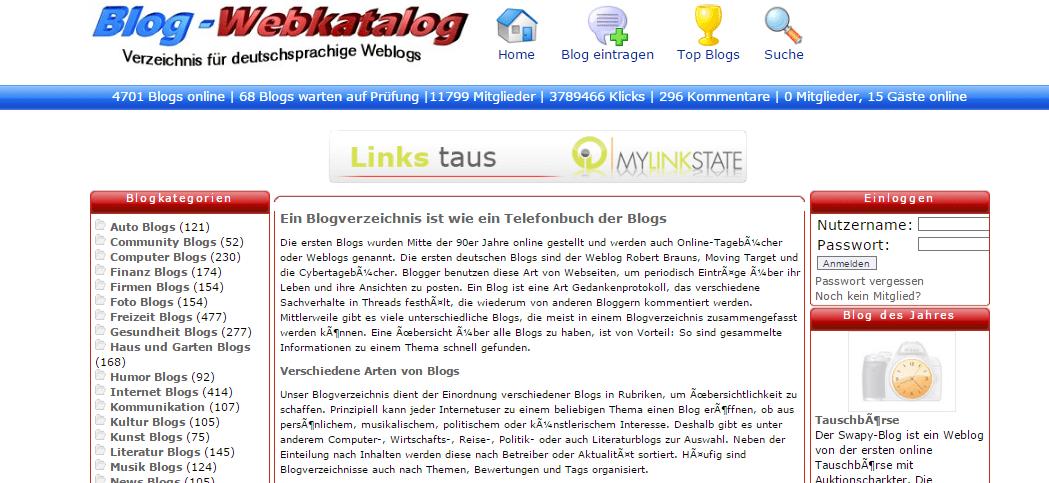 Katalogi blogów w pozycjonowaniu w Szwajcarii