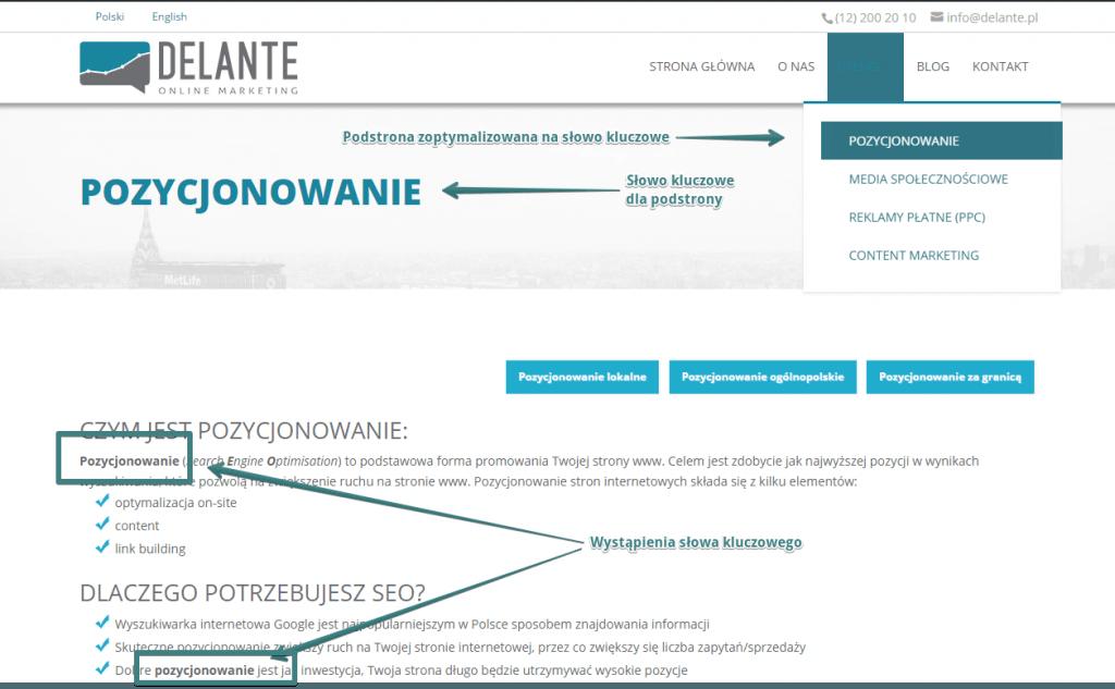 Dobra budowa strony internetowej dla dobrego pozycjonowania