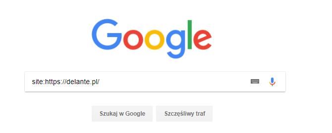 Sprawdzanie indeksacji w google