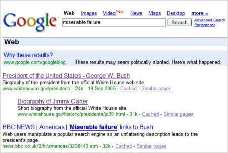 Google bomb przykład