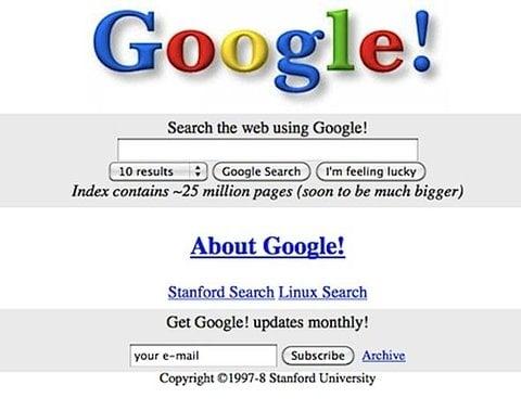 Jak wyglądało kiedyś Google?