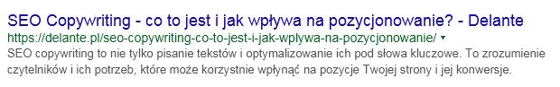 Meta tytuł i opis w wynikach wyszukiwania