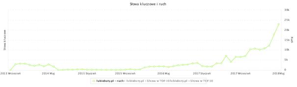 Ruch na stronie LubieButy.pl