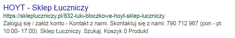 Wydok w wyszukiwarce fraza hoyt przed optymalizacją