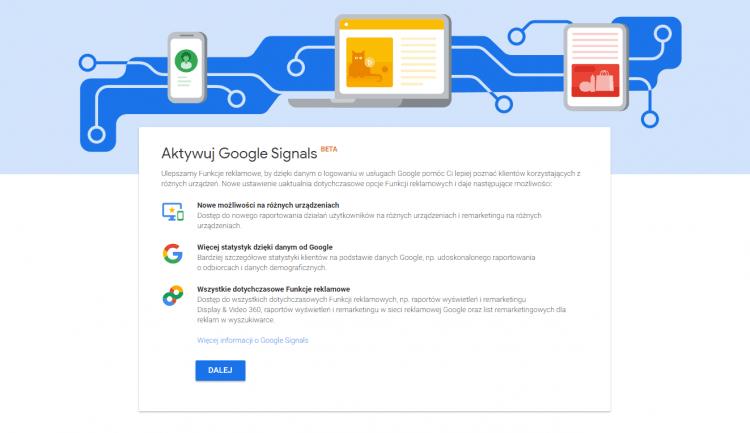 Jak aktywować Google Signals?
