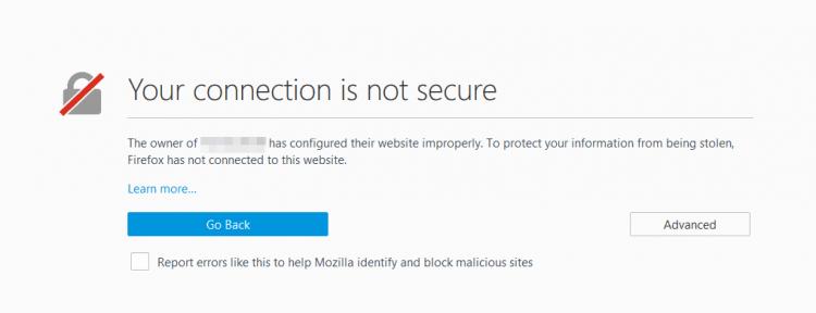 SSL incorrect installation