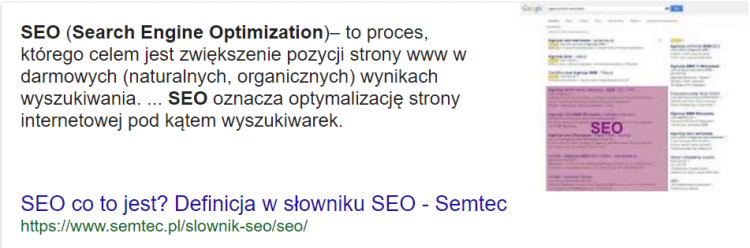 Direct answer co to jest seo