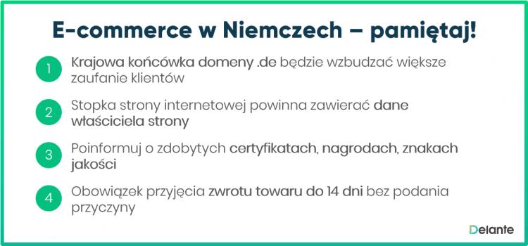 E-commerce w niemczech - pamiętaj!