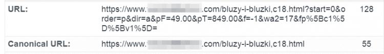 Canonical - sortowanie