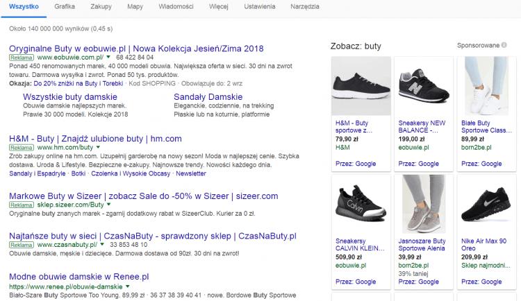 reklama produktowa Google Ads