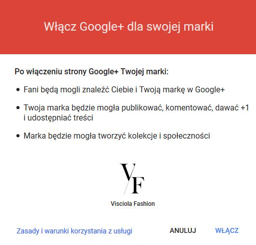 Włączenie Google+ na Google Moja Firma