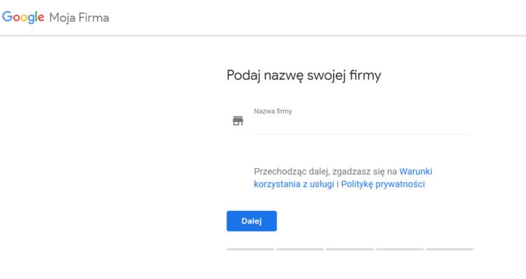Zakładanie Google Moja Firma