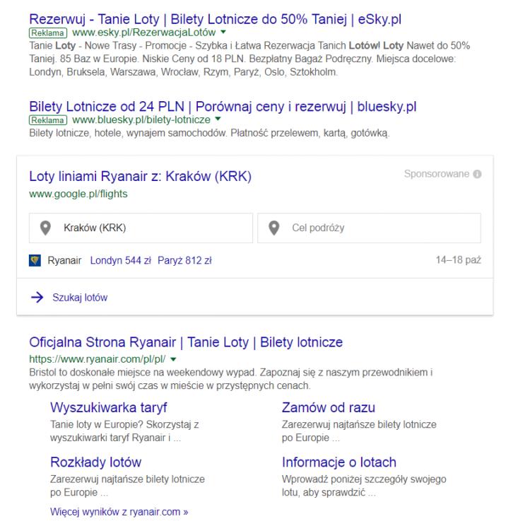 Mity google - konkurencja