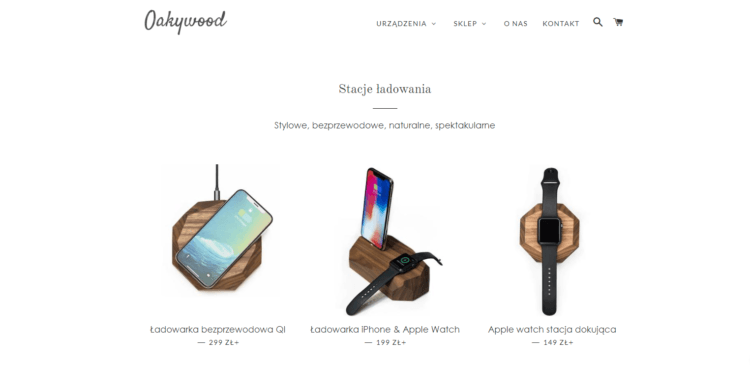 Shopify - przykład sklepu