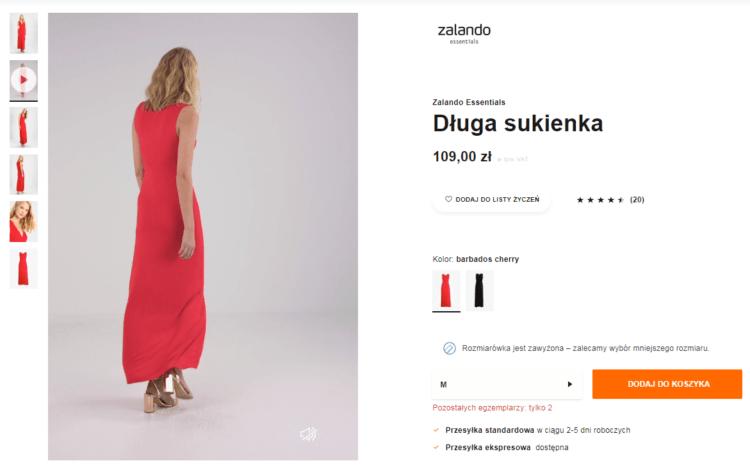 Strona produktowa Zalando
