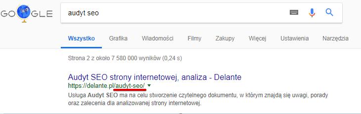 Przyjazny URL to lepsza klikalność