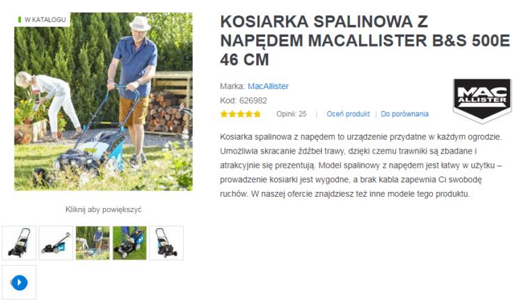 Zdjęcia produktu na stronie