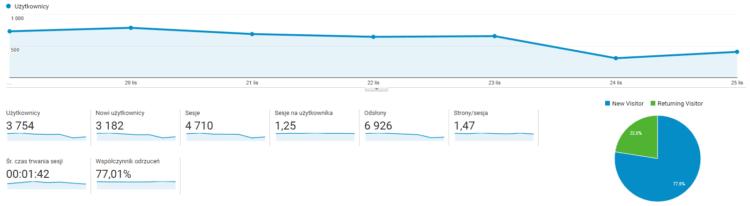 Przegląd użytkowników w Google Analytics