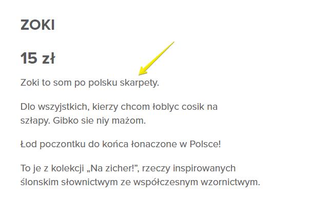 Seo po śląsku - wplatanie polskich słów