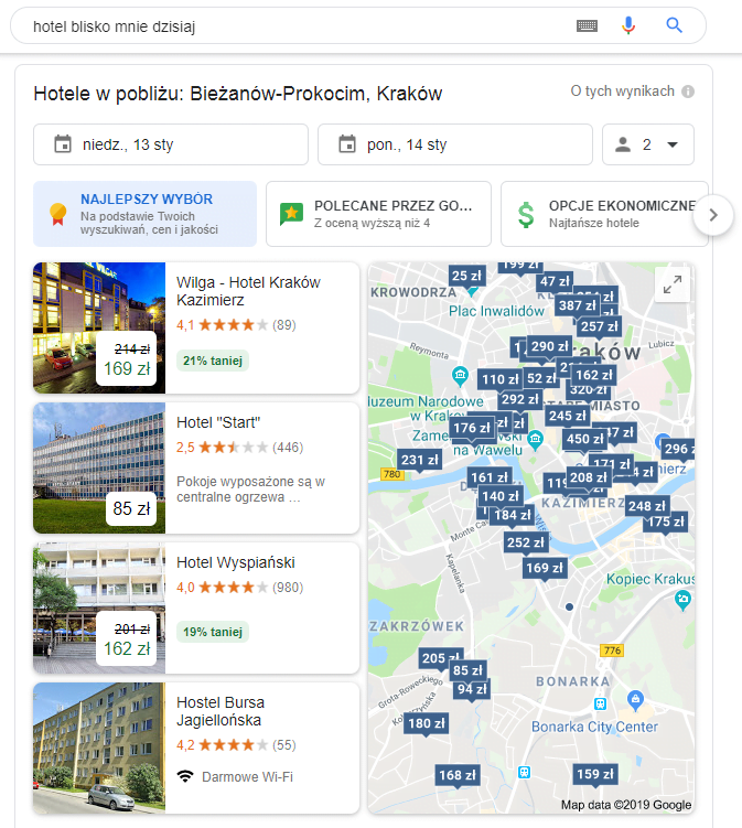 Hotel near me na google maps