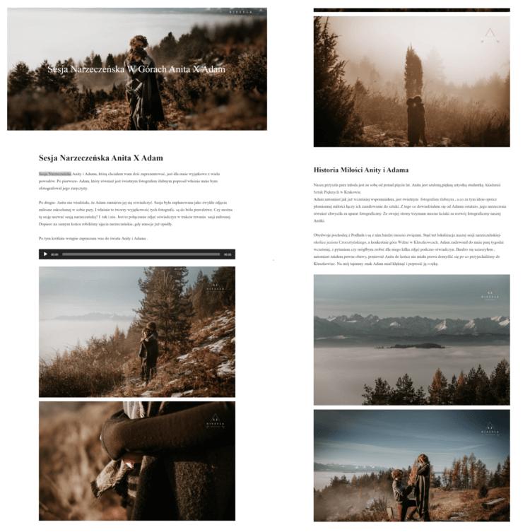 Blog fotograficzny przykład