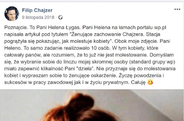 Filip Chajzer - wpadka wizerunkowa