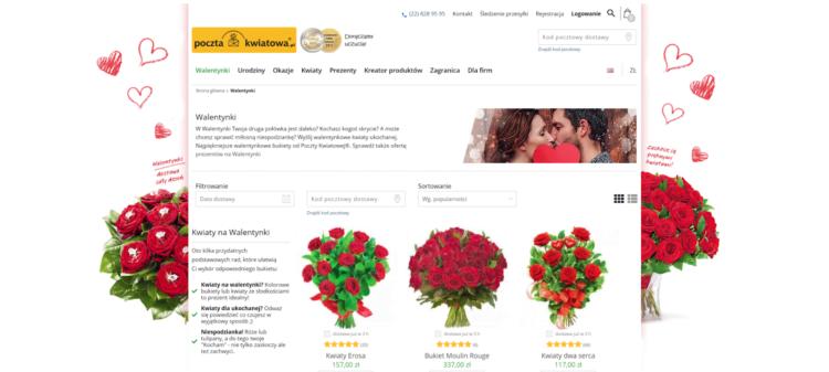 Kampania walentynkowa - poczta kwiatowa