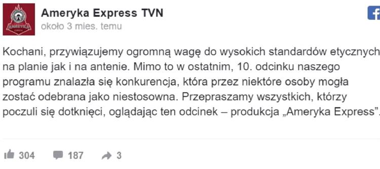 Przeprosiny TVN za chajzera