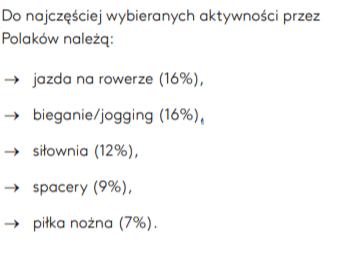 Jakie aktywności wybierają Polacy?
