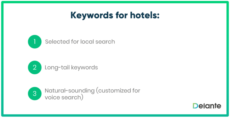 Keyewords for hotels