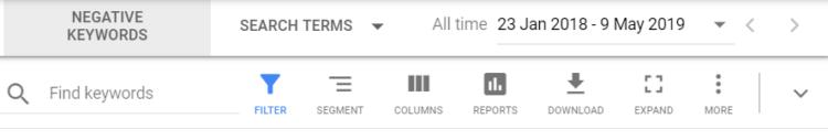 Google Analytics - Columns