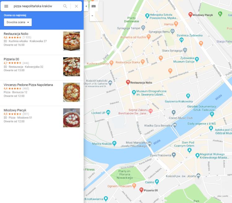 Restauracja - Google Maps