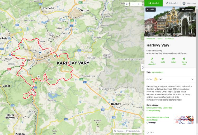 Mapy.cz search