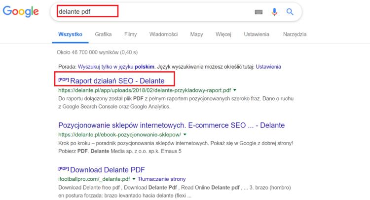 PDF w wyszukiwarkach