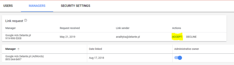 how to become google ads administrative owner