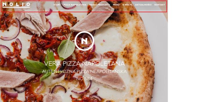 Strona www restauracji
