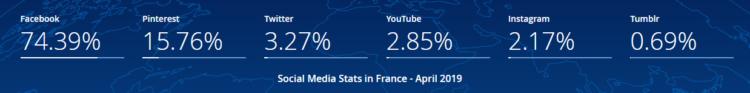 SEO in France - social media