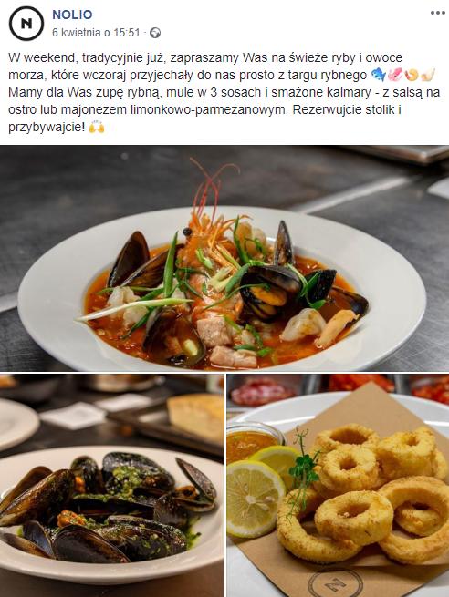 Restauracja - social media