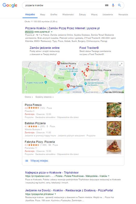 Wyszukiwanie restauracji