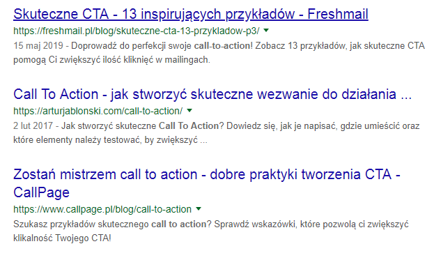 Call to action co to jest?