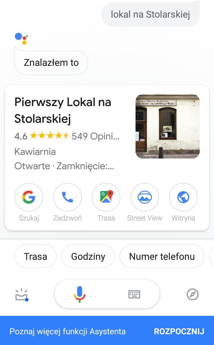 Optymzlizacja google moja firma pod voice search