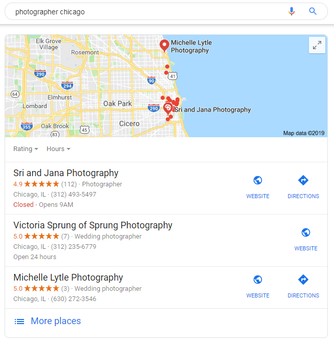 Results of photographer chicago search